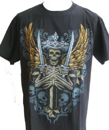 Slull Angel  T Shirt With Large Colour Back Print